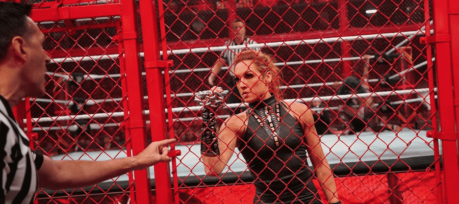 Becky Lynch decided to lock the cage herself at Hell in a Cell