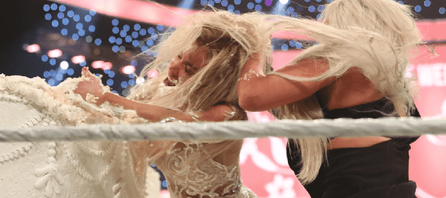 Liv Morgan puts Lana's face into the cake