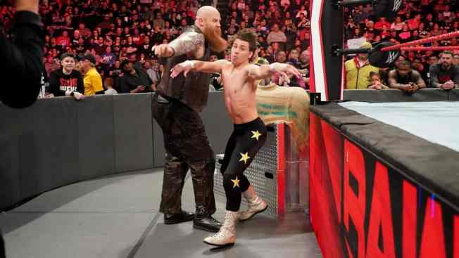 Erick Rowan and local competitor