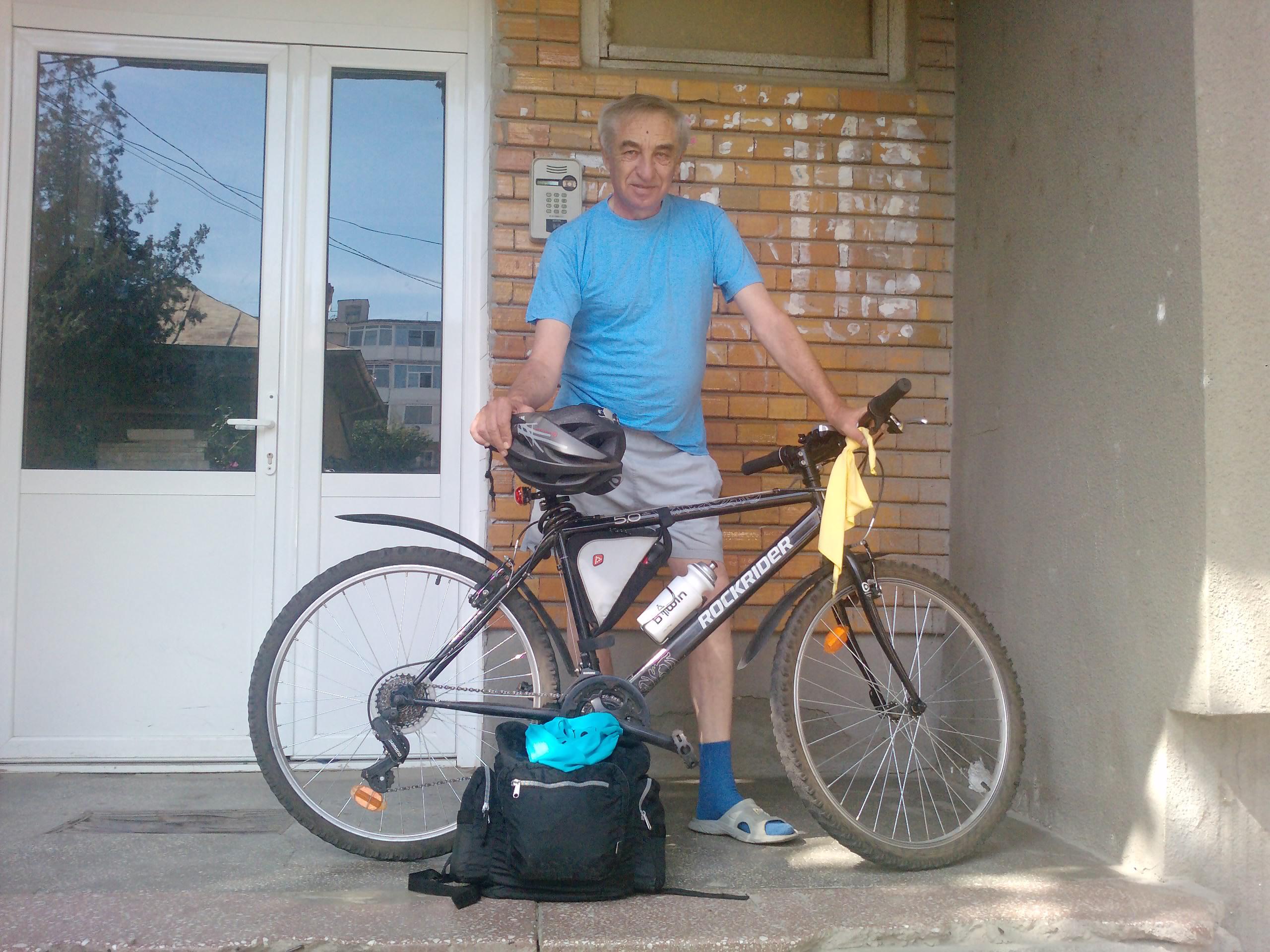 160 Km singur pe bicla - echipa tehnica