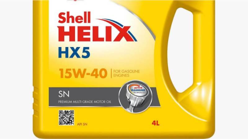 Shell Helix HX5 – Dầu nhớt xe ôtô chạy xăng thông dụng