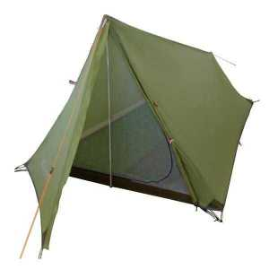 Green Vuno Port William Ultralight weight Hiking Camping tent Front Open View