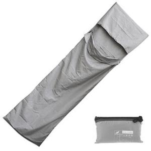 Grey Sleeping Bag Liner with Zip