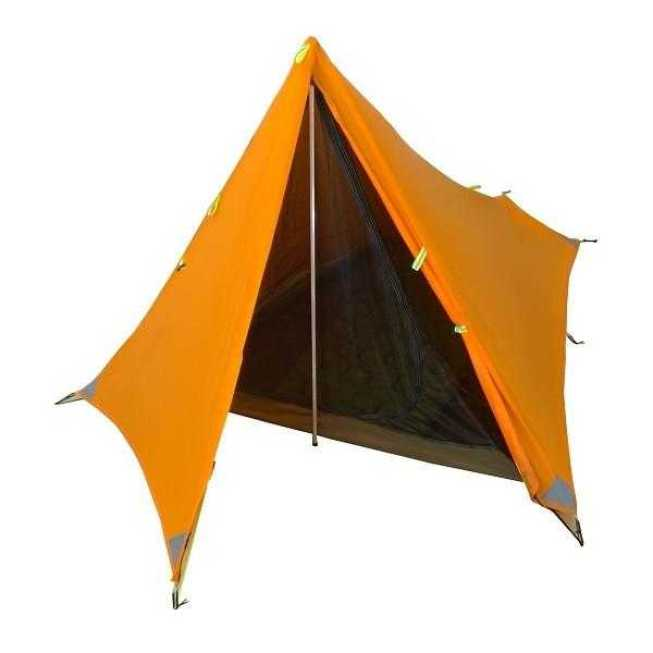 Orange The Divide Ultralight weight hiking camping tent front open