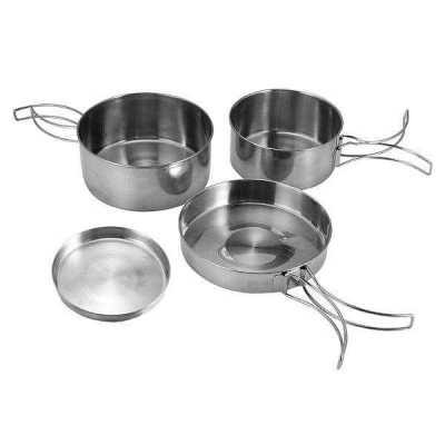 3 pots an lid