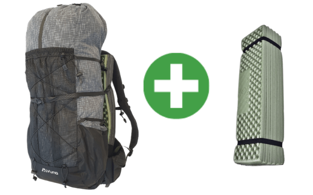 Ultralight Weight Backpack for Tramping with Sleeping Mat