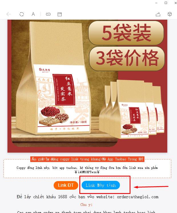 link chiết khấu taobao tmall