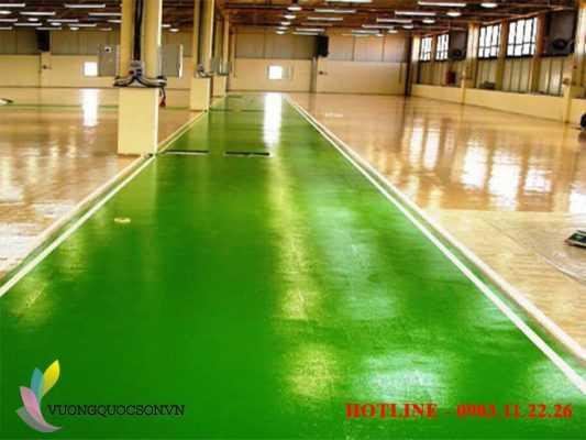 THi công sơn sàn epoxy cho sàn nhà xưởng công nghiệp