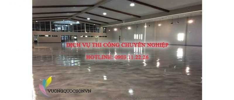 sàn nhà xưởng sử dụng sơn sàn epoxy