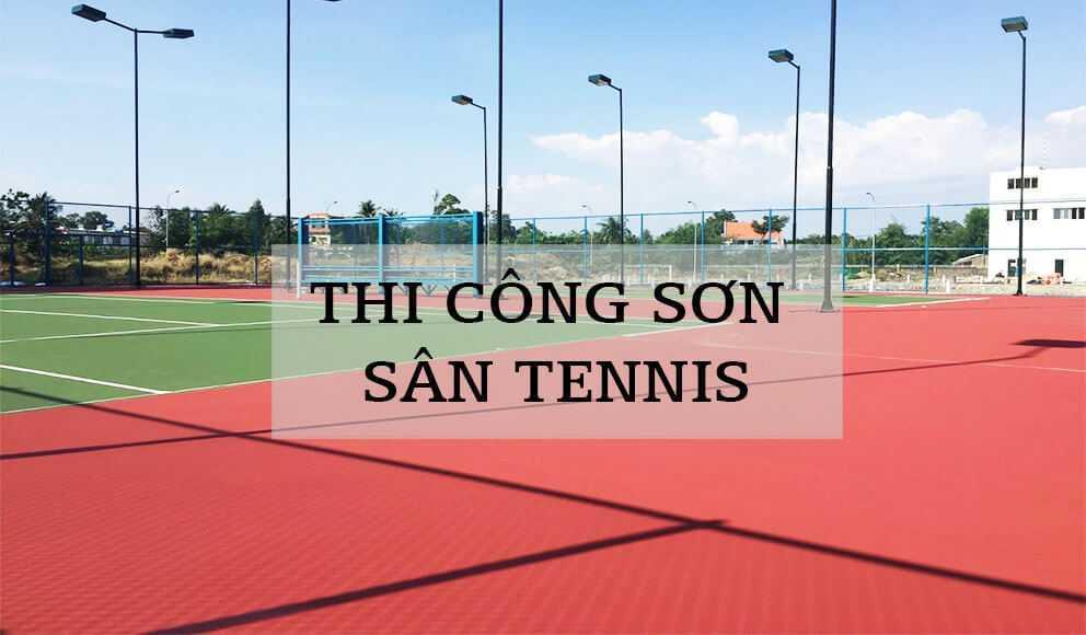 Quy trình thi công các loại sân Tennis khác nhau