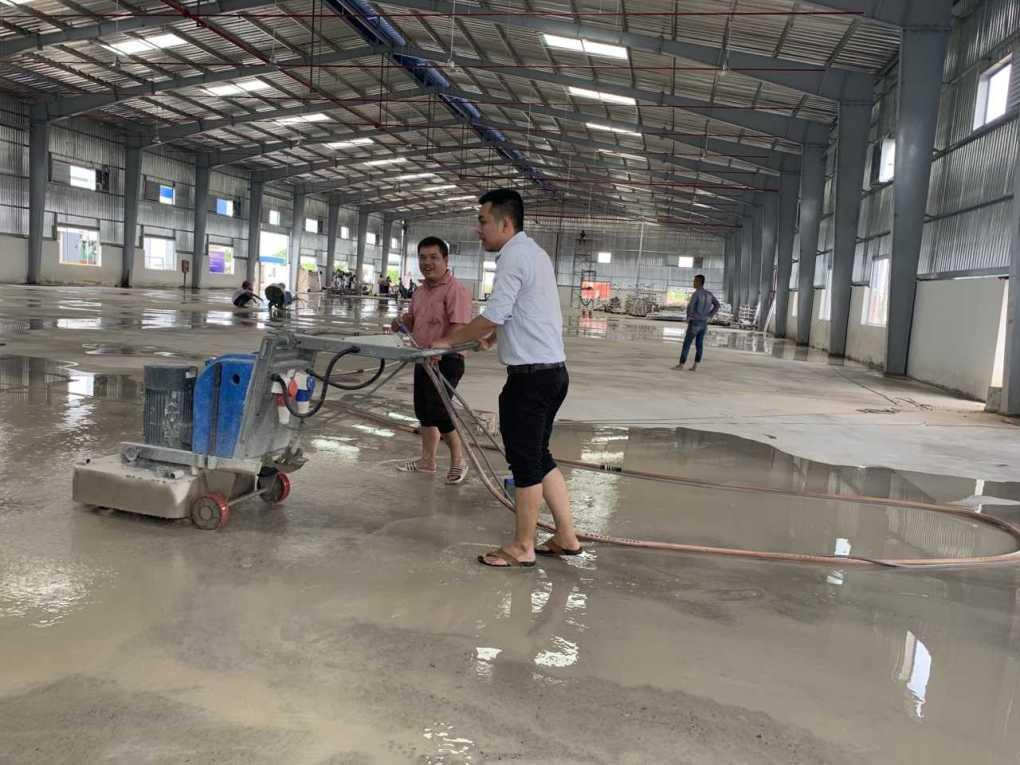 Thi Công Đánh Bóng Mài Sàn Bê Tông Nền Nhà Xưởng Tại Khánh Hòa