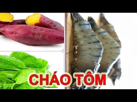 cách nấu khoai lang cho bé ăn dặm - Bí Quyết Nấu Cháo TÔM KHOAI LANG RAU MỒNG TƠI Cho Trẻ Táo Bón || Thái Thọ