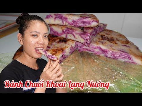 hướng dẫn nướng khoai lang bằng lò nướng - Cách làm Bánh Chuối Khoai Lang Nướng bằng chảo cực ngon