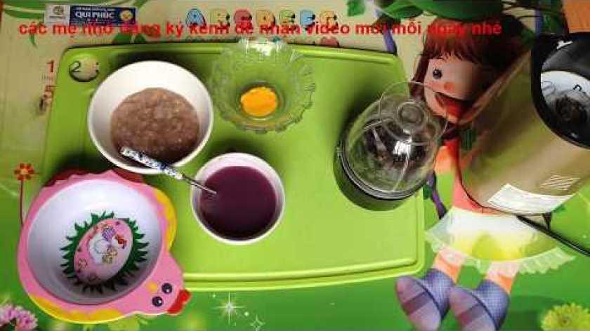 cách nấu khoai lang cho bé ăn dặm - cách nấu cháo trứng cho bé ăn dặm - cách nấu cháo trứng gà khoai lang cho bé  - ĂN DẶM KIỂU NHẬT