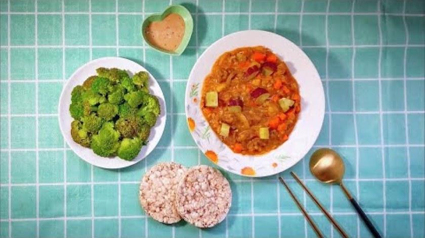 cách nấu khoai lang mật - #15 Bò Sốt Khoai Lang Mật Nghiền Ăn Cùng Bánh Gạo Lứt Ăn Kiêng Yến Mạch Vừa Ngon Vừa Tiện