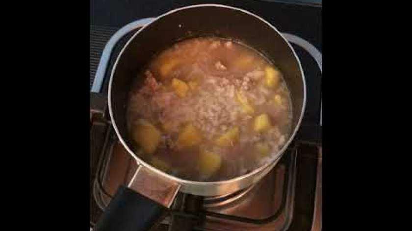 cách nấu khoai lang cho bé ăn dặm - Cách nấu Cháo thịt bò Khoai lang cho bé từ 8tháng tuổi trở lên [vlog5]- SOBIN FAMILY