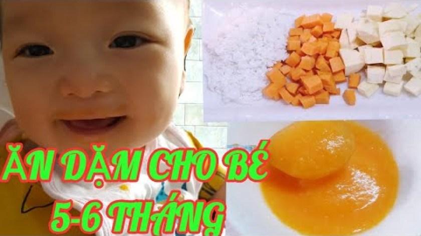 cách nấu khoai lang cho bé ăn dặm - Cháo Khoai lang Cà rốt cho bé ăn dặm 5-6 tháng || Thanh Tâm Food