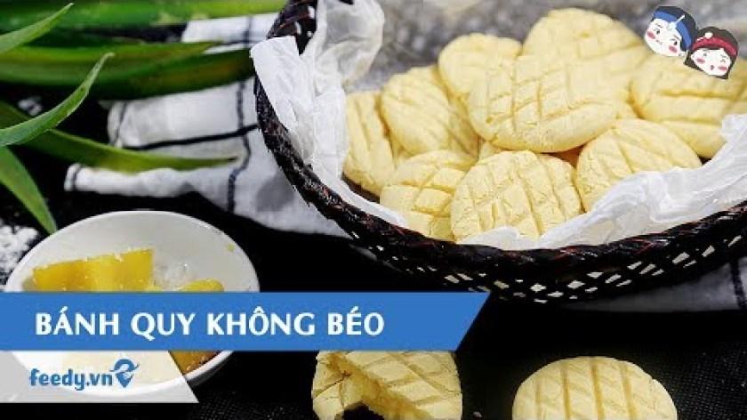 hướng dẫn làm bánh khoai lang - Hướng dẫn cách làm Bánh quy không béo từ khoai lang với #Feedy