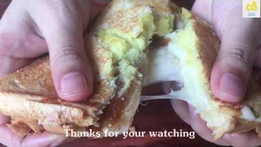 hướng dẫn làm bánh khoai lang - Hướng dẫn cách làm bánh mỳ Sandwich khoai lang đặc biệt