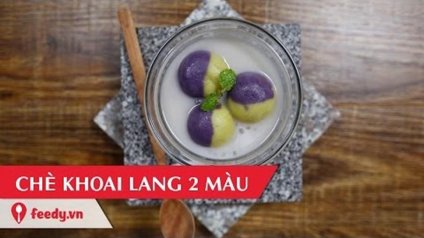cách nấu khoai lang - Hướng dẫn cách làm chè khoai lang hai màu - 2 colors sweet potato soup