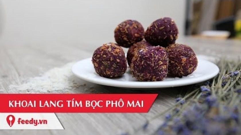 cách nấu khoai lang - Hướng dẫn cách làm khoai lang tím bọc phô mai siêu ngon - Purple Sweet Potato Stuffed With Cheese