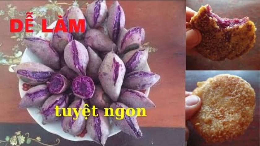 hướng dẫn làm bánh khoai lang - Hướng dẫn làm món bánh Khoai Lang Tím, Khoai Lang Nhật tuyệt ngon đơn giản, dễ làm
