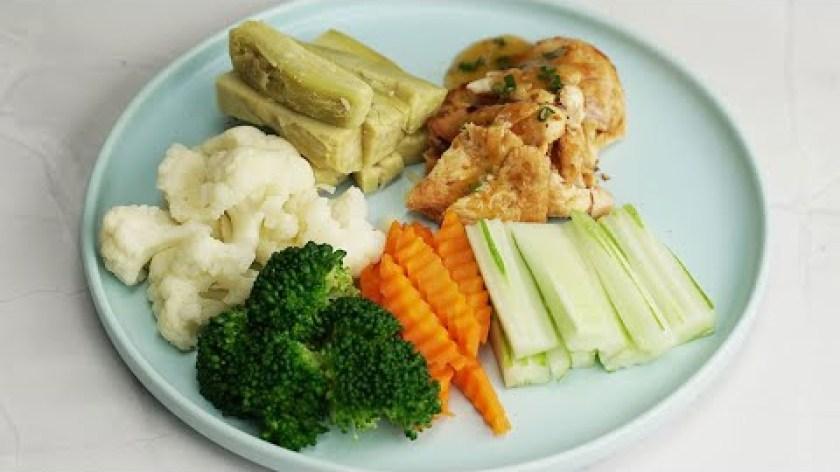 hướng dẫn luộc khoai lang - Thực đơn EAT CLEAN - KHOAI LANG LUỘC - RAU CỦ LUỘC - ỨC GÀ ÁP CHẢO VỊ SA TẾ dành cho người giảm cân.