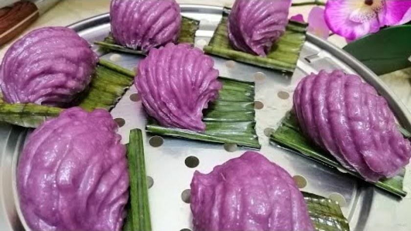 hướng dẫn làm bánh khoai lang - weet potato purple angku kuil /hướng dẫn cách làm bánh khoai lang tím đẹp mắt dễ làm @ÚT THÁP MƯỜI