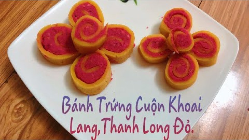 cách nấu khoai lang cho bé ăn dặm - Bánh Khoai Lang Cuộn Cho Bé Ăn Dặm