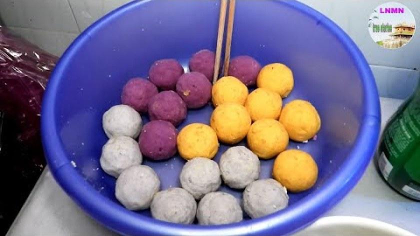 """cách nấu khoai lang - Bí quyết chè Trôi Nước Làm Từ """"Khoai Lang, Khoai Cao"""""""