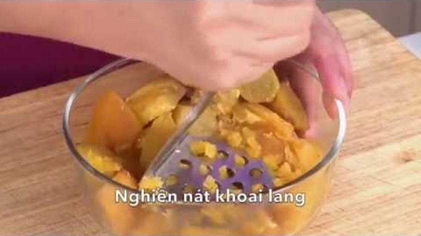 hướng dẫn làm bánh khoai lang - Hướng dẫn làm bánh khoai rán giòn tan