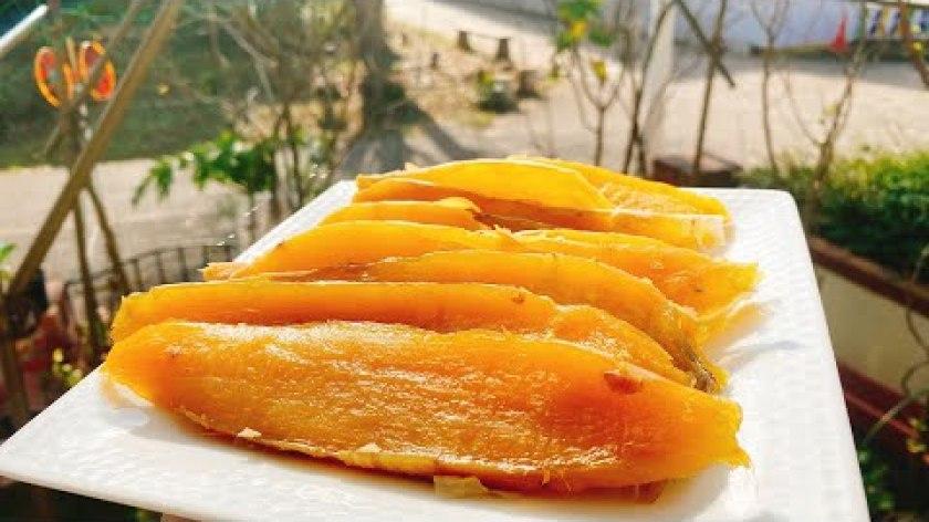 hướng dẫn làm mứt khoai lang - KHOAI LANG DẺO, KHOAI LANG SẤY DẺO . 美味しい干し芋の作り方