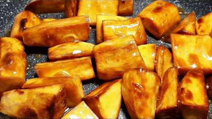 cách nấu khoai lang mật - KHOAI LANG NGÀO ĐƯỜNG THỐT NỐT - món ăn vặt đơn giản mà ngon