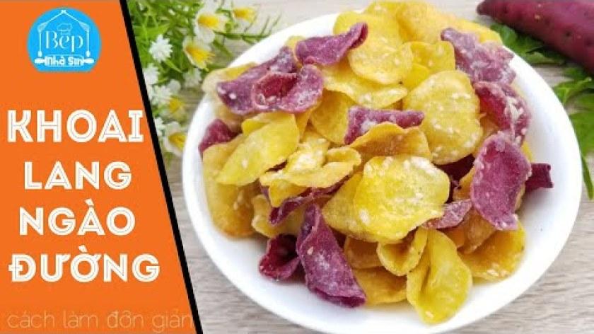 hướng dẫn làm mứt khoai lang - KHOAI LANG NGÀO ĐƯỜNG ăn là ghiền cách làm đơn giản ‖ Bếp nhà Sin