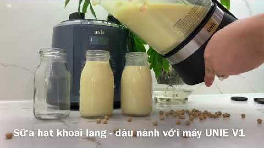 cách nấu khoai lang mật - SỮA HẠT ĐẬU NÀNH KHOAI LANG cực ngon với máy làm sữa hạt Unie V1