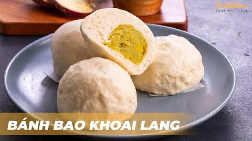 hướng dẫn làm bánh khoai lang - CÁCH LÀM BÁNH BAO KHOAI LANG   TasteShare