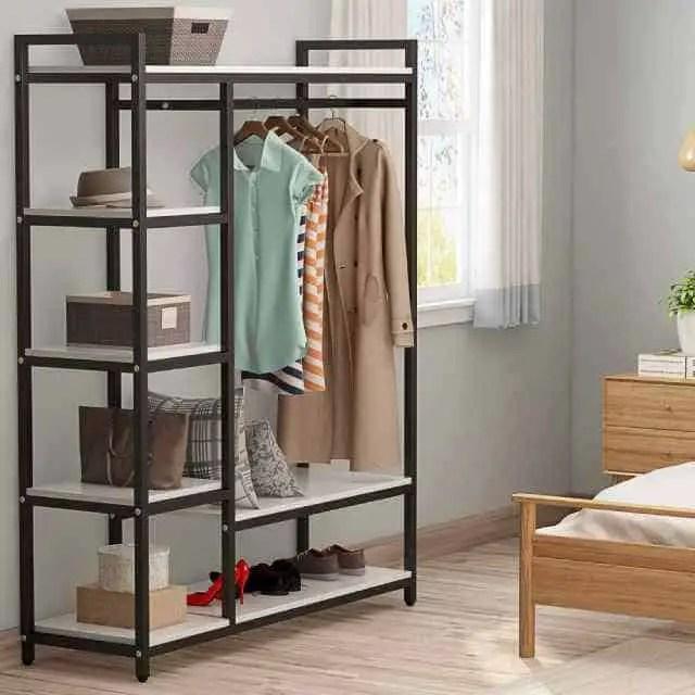 7 freestanding closet organizers and