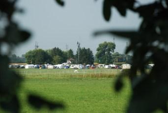 Camping pladsen med det danske telt