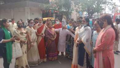 Photo of आपत्तिजनक टिप्पणी को लेकर भाजपा महिला मोर्चा ने पूर्व मुख्यमंत्री कमलनाथ का पुतला दहन किया