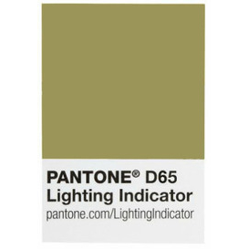 Pantone Indicateur autocollant contrôle éclairage conforme D65
