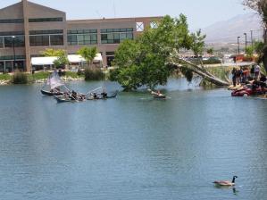 Raft Race @ Tech-X 2010 on the VVC Campus lake...