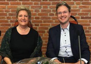 Herma van der Weide en Dimitri Poos