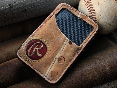 Recycled Baseball Glove Wallet