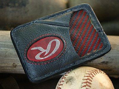 Baseball Glove Leather Front Pocket Wallet