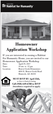Homeowner Application Workshop April 19th 2017