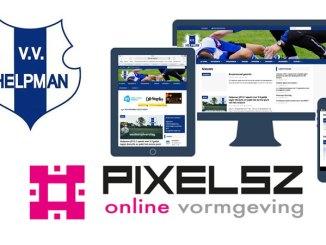 website, vv Helpman, Pixelsz online vormgeving