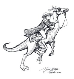 Dino and Rider sketch