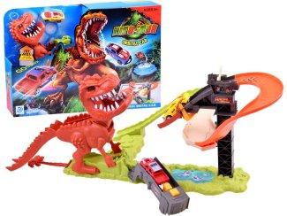 Otroška avtomobilska dirkalna steza Dinozaver T-rex
