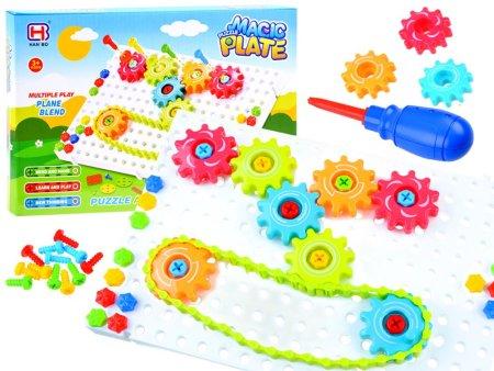 Kreativna igrača – sestavljanka Magic plate 133 delov