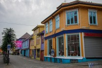 ...as well as colorful houses, which brightened the otherwise cloudy skies.